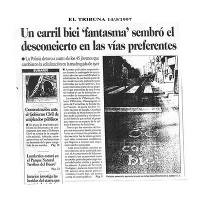 Dossier Prensa 1997. Guardabarros. Comité de Bici Urbana Salamanca