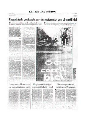 Dossier Prensa 1997. Comité Bici Urbana. Salamanca