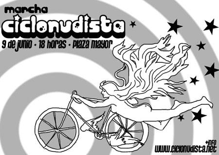 Ciclonudista en Valladolid. 2007