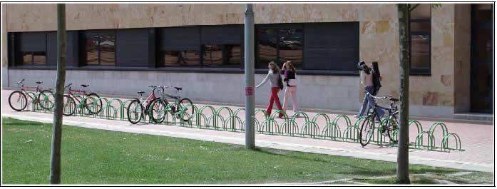 Aparca bicis en la Universidad de Salamanca